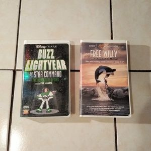 Other - Buzz Lightyear of Star Command & Free Willy VHS